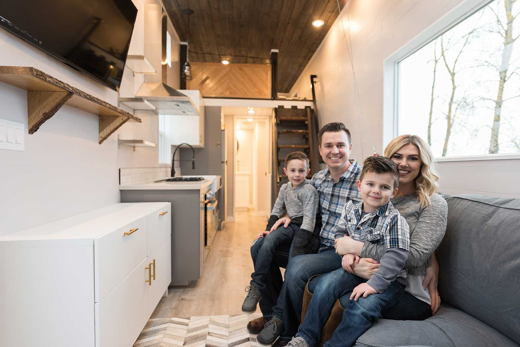 Introducing the cayman a tiny home for the whole family for Tiny house blog family